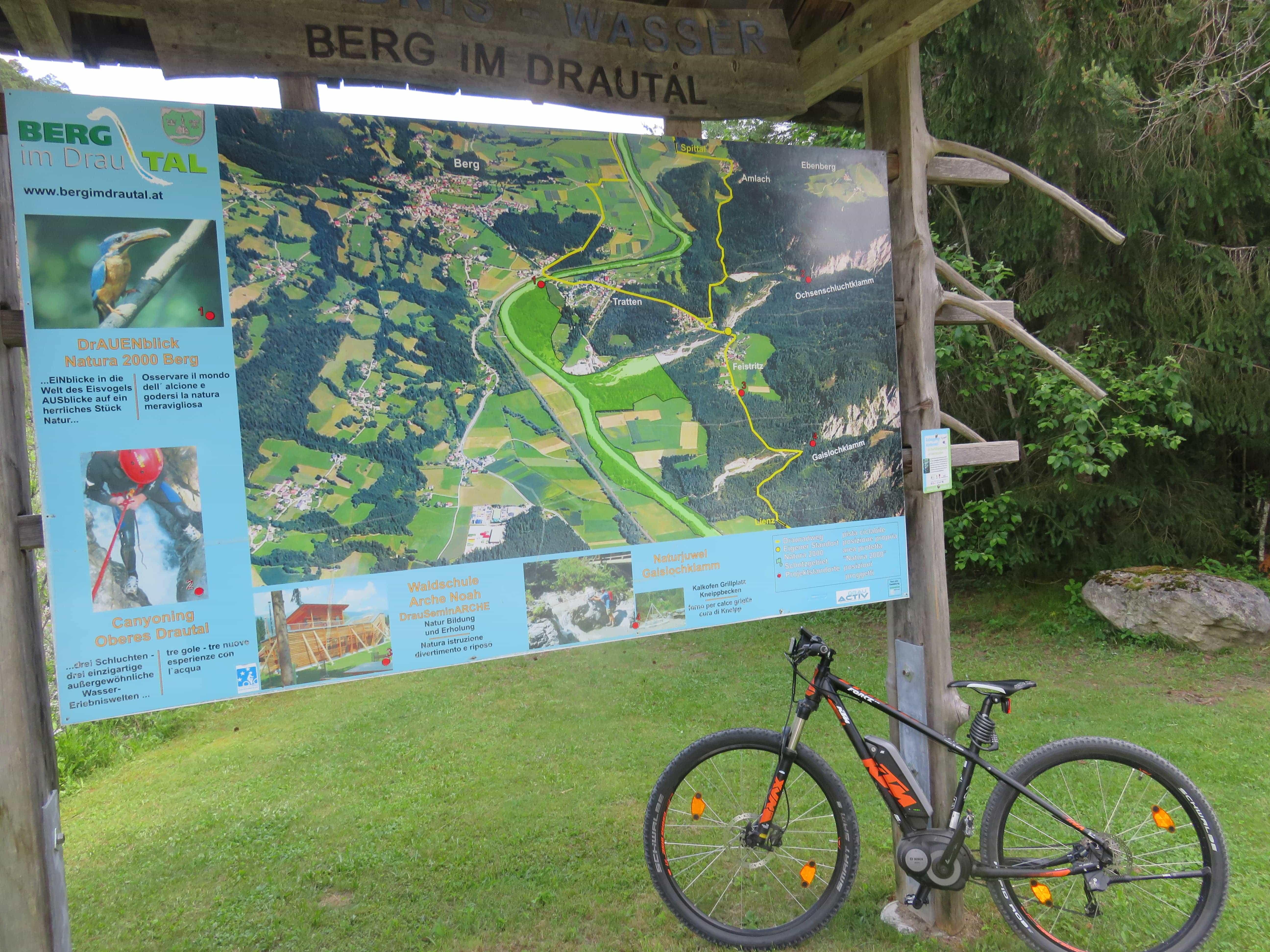 Drauradweg | Mountainbike Touren | Weissensee | Berg im Drautal