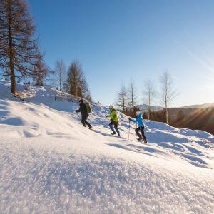 Tourengehen in wunderschöner Schneelandschaft