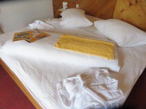 Komfortable Betten im Sunshine Hotel